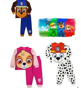 Cartoon Character  Kids Boys Girls Paw Patrol Pyjamas PJ's Set