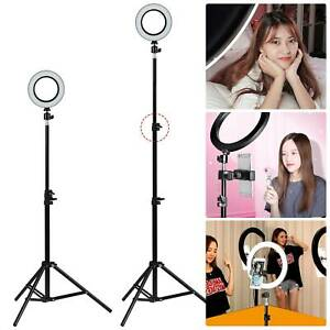 """6"""" LED Ring Light Lamp Stand Dimmable Kit For Photo Studio Selfie Makeup Live"""
