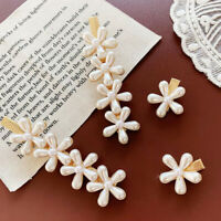 Fashion Women's Flower Pearl Clips Bobby Stick Barrette Hairpin Hair Accessories
