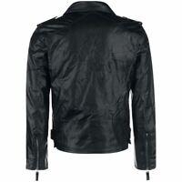 Legend of Zelda Logo Faux Leather Biker Bomber Jacket - Unisex Black Cosplay
