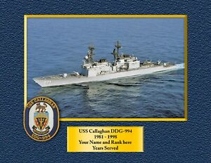 USS Callaghan DDG-994 Custom Personalized Print of US Navy Ships Gift