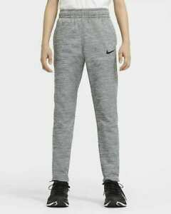 Nike Therma Big Kids Training Pants Size XL Joggers Boys Grey CU9082-084 New