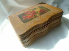 """Antique Wooden Jewelry Box~RARE Music """"Illinois Millitary March"""" SWISS~dove tail"""