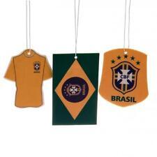 Brazil International Football 3Pk Triple Car Air Freshener Freshner Official CBF