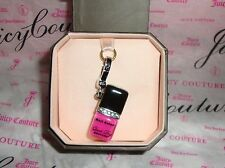 New Juicy Couture Pink Nail Polish Charm For Bracelet, Necklace,Handbag Keychain