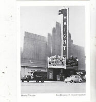 """*Postcard-""""The Haight Theatre"""" -Opened abt 1910- *S.F.'s Haight-Ashbury (A21-1)"""