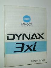 NOTICE MINOLTA 3 xi DYNAX  en FRANCAIS  photo photographie