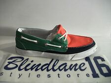 SCARPE CONVERSE JACK PURCELL BOAT OX CANVAS GREEN NAVY ORANGE 113509 EUR N 44