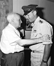 Old Photo. David Ben-Gurion & Yitzhak Rabin - 80th Birthday