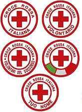 Patch toppa personalizzata CROCE ROSSA - personalizzabile volontario protezione