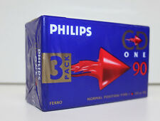 Audiokassetten Philips CD One 90 Normal Position Type I, 3 Stück / pice, NEU,NEW