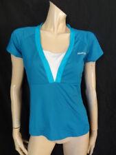 (222Dec) Size 16 *Reebok* Cute blue aerobics/sports/exercise T-shirt top ladies