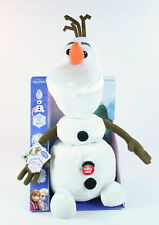 "Disney Frozen OLAF the SNOWMAN pull apart 15"" talking plush soft toy - NEW!"