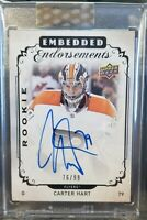 18-19 Clear Cut Embedded Endorsements Carter Hart Rookie Auto /99