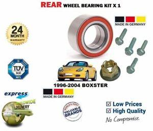 FOR PORSCHE BOXSTER 986 1995-2004 NEW 1x REAR WHEEL BEARING KIT + BOLTS + NUT