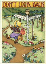 Mary Engelbreit Paperworks-DON'T LOOK BACK-Blank Greeting Card w/Envelope-NEW!