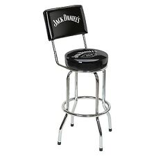 Jack Daniels Old No. 7 Bar Stool with Backrest - Bar - Pub - Tennessee Whiskey