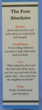 SOBRIETY BOOKMARK THE FOUR ABSOLUTES