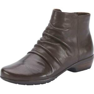 Walking Cradles Womens Esme Leather Ankle Shortie Booties Shoes BHFO 6372