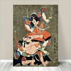 "Cool Japanese SAMURAI Warrior Kabuki Art CANVAS PRINT 24x18""~ Kuniyoshi #234"