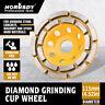 "4-1/2"" Diamond Cup Grinding Wheels Double Row Concrete 18 seg  Angle Grinder"