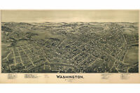 Map of Washington PA; Antique Map; Pictorial or Birdseye Map, 1897