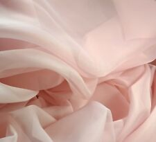 "Pink blush sheer Voile 116"" wide wedding  party decoration backdrop, free swatch"