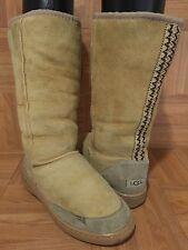 RARE!❤️ Original UGG Australia Ultra Tall Boots Braid Tasman Sand Beige Sz 5
