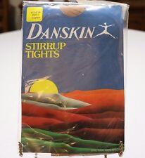 Vintage 1982 Danskin Stirrup Tights Suntan Size C ~ New