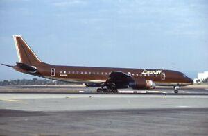 Braniff International Douglas DC-8 Ultra Brown N1809E '80- Kodachrome 35mm slide