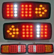2 x 12V LED FEUX MINI LAMPES ARRIERE CAMION REMORQUE CARAVANE FOURGON 33 LED