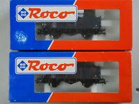Wagon ROCO HO - Tombereau des CFL Luxembourg - Ref 46949 - Etat Neuf - Lot de 2