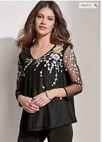 NEW  RRP £34 Together Embroidered Mesh Top                                (B113)