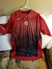 MANCHESTER UNITED SOCCER JERSEY  - LARGE - NIKE DRI-FIT- PULLOVER