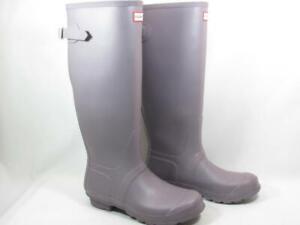 Hunter Original Back Adjust Knee High Rain Boot Women size 9 Lilac