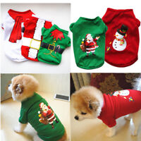 Pet Dog Coat Christmas Clothes Winter Apparel Clothing Puppy Costume Santa Gift