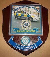 Irish Police/Garda Traffic Control Wall Plaque personalised free of charge.