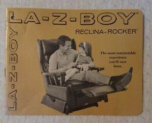 Vintage 1950's Original La-Z-Boy Reclina-Rocker Furniture Brochure Booklet