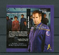 Gambia 2015 MNH Star Trek Enterprise 1v S/S 50th Anniv Jonathan Archer Stamps