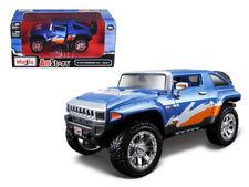 HUMMER HX 1:24 Scale Diecast Toy Car Model Miniature Blue
