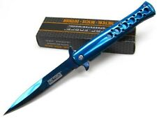 TAC-FORCE Titanium Blue STILETTO Assisted Folding POCKET Knife New!  TF-884BL