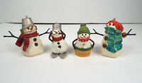Jan Karon Hallmark Christmas Ornaments 1999-2000 Snowman Set 4 Piece Estate Lot