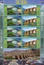 More details for karabakh repubic of artsakh 2018 mnh bridges europa 8v m/s architecture stamps
