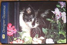 Fiddler's Elbow Designer Doormat Black & White Kitten by Sue Ellen Ross NWT