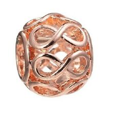 ROSE GOLD PLATED INFINITY LOVE, FRIENDSHIP CHARM BEAD