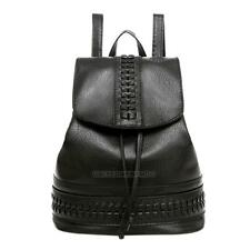 Fashion Women Girl School PU Leather Shoulder Bag Backpack Travel Rucksack Purse