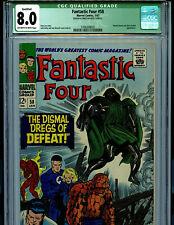 Fantastic Four #58 CGC 8.0 VF Marvel Comic Stapleless Variant  Amricons K25