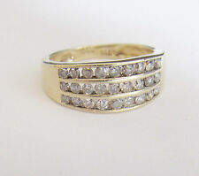 18CT GOLD  DIAMOND ETERNITY RING 0.50CTS SIZE O