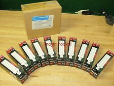 10 NEW-IN-BOX PHILIPS PL-C 18W/27 2-PIN CFL BULBS EXIT SIGNS + MORE 33944