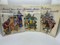 3 Osprey Men at Arms SC Books: Scythians, Samurai Armies, Ancient Chinese Armies